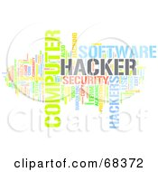 Royalty Free RF Clipart Illustration Of A Hacker Word Collage Version 2