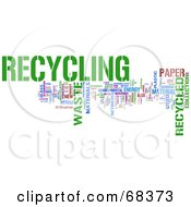 Royalty Free RF Clipart Illustration Of A Recycling Word Collage Version 2