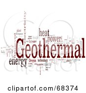 Royalty Free RF Clipart Illustration Of A Geothermal Word Collage Version 3