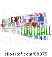 Association Football Word Collage Version 2