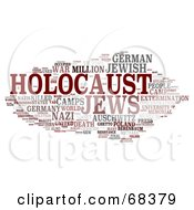 Royalty Free RF Clipart Illustration Of A Holocaust Word Collage Version 2