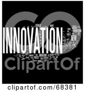 Royalty Free RF Clipart Illustration Of An Innovation Word Collage Version 2 by MacX #COLLC68381-0098