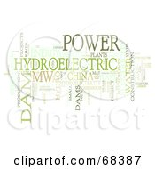 Royalty Free RF Clipart Illustration Of A Hydroelectric Word Collage Version 2
