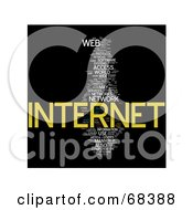 Royalty Free RF Clipart Illustration Of An Internet Word Collage Version 3