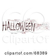 Royalty Free RF Clipart Illustration Of A Halloween Word Collage Version 2