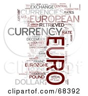 Royalty Free RF Clipart Illustration Of A Euro Word Collage Version 1