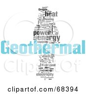Royalty Free RF Clipart Illustration Of A Geothermal Word Collage Version 4