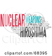 Royalty Free RF Clipart Illustration Of A Hiroshima Word Collage Version 4