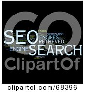 Royalty Free RF Clipart Illustration Of A Word Collage SEO
