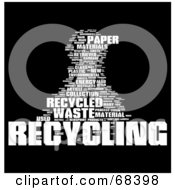 Royalty Free RF Clipart Illustration Of A Recycling Word Collage Version 1