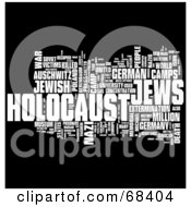 Royalty Free RF Clipart Illustration Of A Holocaust Word Collage Version 4