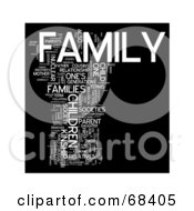 Royalty Free RF Clipart Illustration Of A Family Word Collage Version 3