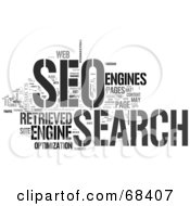 Royalty Free RF Clipart Illustration Of A SEO Word Collage Version 1