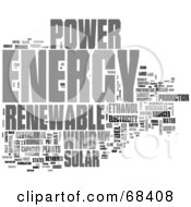 Royalty Free RF Clipart Illustration Of A Renewable Energy Word Collage Version 3