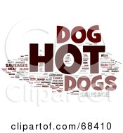 Royalty Free RF Clipart Illustration Of A Hot Dog Word Collage Version 3