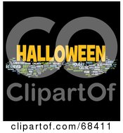 Royalty Free RF Clipart Illustration Of A Halloween Word Collage Version 5