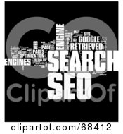 Royalty Free RF Clipart Illustration Of A SEO Word Collage Version 2