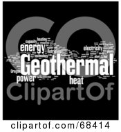 Royalty Free RF Clipart Illustration Of A Geothermal Word Collage Version 2