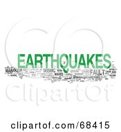 Royalty Free RF Clipart Illustration Of An Earthquake Word Collage Version 4