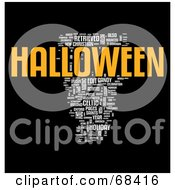 Royalty Free RF Clipart Illustration Of A Halloween Word Collage Version 4
