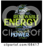 Royalty Free RF Clipart Illustration Of A Renewable Energy Word Collage Version 4
