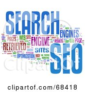 Royalty Free RF Clipart Illustration Of A SEO Word Collage Version 3
