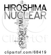 Royalty Free RF Clipart Illustration Of A Hiroshima Word Collage Version 2