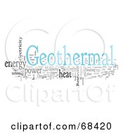 Royalty Free RF Clipart Illustration Of A Geothermal Word Collage Version 1