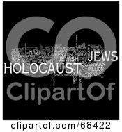 Royalty Free RF Clipart Illustration Of A Holocaust Word Collage Version 3