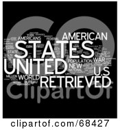 Royalty Free RF Clipart Illustration Of A United States Word Collage Version 1 by MacX