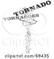 Royalty Free RF Clipart Illustration Of A Tornado Word Collage Version 3