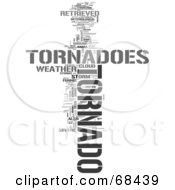 Royalty Free RF Clipart Illustration Of A Tornado Word Collage Version 2