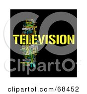 Royalty Free RF Clipart Illustration Of A Television Word Collage Version 3 by MacX