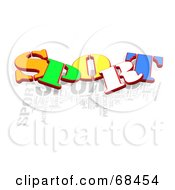 Colorful Sport Word Collage