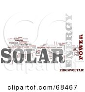 Royalty Free RF Clipart Illustration Of A Solar Power Word Collage Version 5 by MacX #COLLC68467-0098