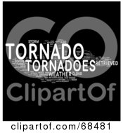 Royalty Free RF Clipart Illustration Of A Tornado Word Collage Version 1
