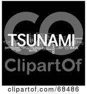 Royalty Free RF Clipart Illustration Of A Tsunami Word Collage Version 2