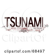 Royalty Free RF Clipart Illustration Of A Tsunami Word Collage Version 4