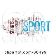 Sport Word Collage Version 4