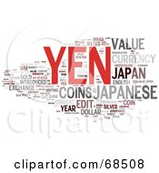 Currency Yen Word Collage Version 2