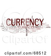 Royalty Free RF Clipart Illustration Of A Currency Word Collage Version 1 by MacX