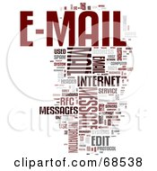 Royalty Free RF Clipart Illustration Of An E Mail Word Collage Version 4 by MacX