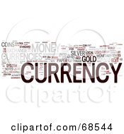 Royalty Free RF Clipart Illustration Of A Currency Word Collage Version 2 by MacX