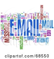 Royalty Free RF Clipart Illustration Of An E Mail Word Collage Version 2 by MacX