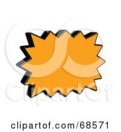 Royalty Free RF Clipart Illustration Of A Black And Orange 3d Word Bubble