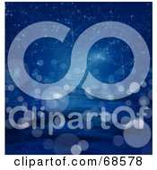Royalty Free RF Clipart Illustration Of A Blue Starry Background With Orbs by MacX