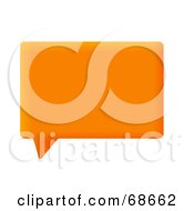 Royalty Free RF Clipart Illustration Of A Square Orange Chat Box Window