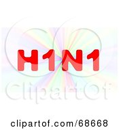 Red H1N1 On A Colorful Burst