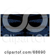 Royalty Free RF Clipart Illustration Of A Black Background With Blue Html Code Version 2