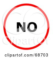 Royalty Free RF Clipart Illustration Of A Red No Circle by oboy
